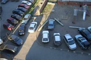 Отсутствие парковок в московских дворах
