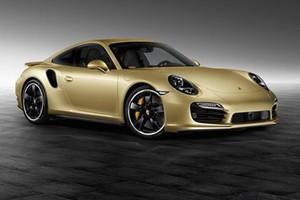 Купе Porsche 911 Turbo с золотым кузовом